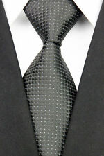 PRICED TO CLEAR!! Mens Classic Necktie Tie Black With Sparkly Silver Dots