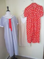 Vintage 80's Maternity Dress Lot of 3 Cotton Dresses Sailor Red Cream Modest S M