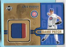 2005 Upper Deck Game Jersey Patch Greg Maddux Cubs/Braves