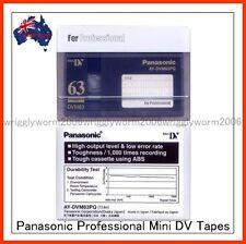 3 x Panasonic AY-DVM63PQ MiniDV Cassette Professional Mini DV Tape 3 Pack