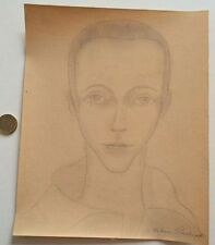 FRENCH ARTIST H.PERDRIAT 1930 PAINTING NEW-YORK ART DECO AUTO PORTRAIT U.S.A