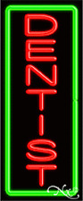 "BRAND NEW ""DENTIST"" VERTICAL 32x13 W/BORDER NEON SIGN w/CUSTOM OPTIONS 10984"