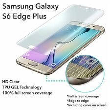 NEW UPDATED* Full Curve Samsung Galaxy S6 Edge Plus TPU Screen Protector Film x3
