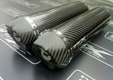 Yamaha YZF R1 07-08 Pair of Carbon Round, Carbon Outlet Exhausts, Race Cans SL