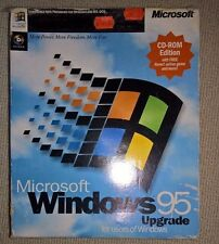 Microsoft Windows 95 UPGRADE RETAIL BOXED, Vintage RARE Operating System CDROM