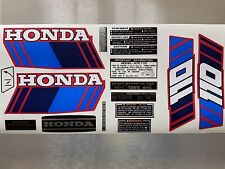 ATC 110 Honda Stickers Set Warning Advice Vintage Trike 1985 Sticker/Decals