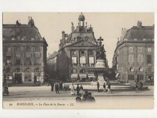 Bordeaux Place de la Bourse France [LL 59] Vintage Postcard 814a