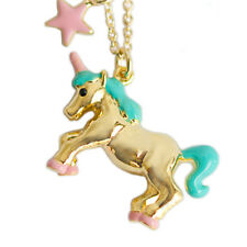 unicorn necklace,horse necklace,cartoon unicorn pendant necklace,gold color