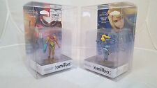 10 AMIIBO BOX PROTECTORS Boxes Clear Plastic Cases Case Stack Display Storage