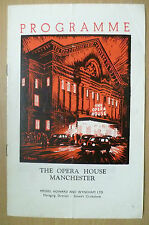 The Opera House Manchester 1958 Prorogramme- GISELLE