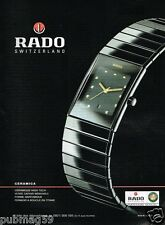 Publicité advertising 2003 Montre Rado Ceramica