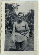 PHOTO ANCIENNE - MILITAIRE PORTRAIT GAY INTEREST -MILITARY 1933-Vintage Snapshot