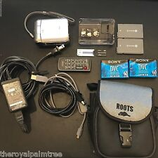 Sony DCR-PC55  MiniDV Handycam Camcorder w/ Many Accessories (Silver)