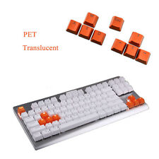 Orange 9 Keys PBT Backlit Translucent Keycaps For Cherry MX Mechanical Keyboard