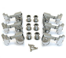 Wilkinson Chrome 3x3 Deco Style Sealed Tuners for Archtop Jazz Guitar WJ-309-C