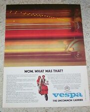 1980 ad page - Vespa motor Scooter Girl Guy -wow what was that?- Piaggio ADVERT