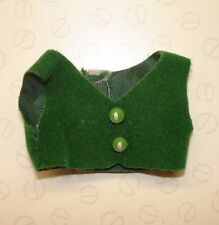 Genuine Sylvanian Families Clothes - Green Soft Waistcoat for Father Figure