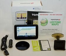 "NEW TomTom GO 2535M LIVE Set LIFETIME MAP CARD Updates 5"" LCD US/Canada Car GPS"