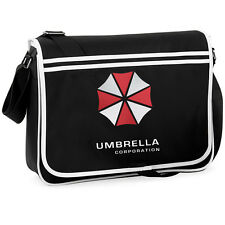 RESIDENT EVIL Umbrella corporation College Borsa a Tracolla Messenger anni Retrò