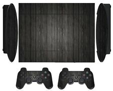 Wood 267 Skin Sticker for PS3 PlayStation 3 Super Slim with 2 controller skins