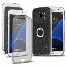 Shockproof 360° Stand Protective Clear Gel Case Cover For Samsung Galaxy Phones
