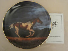 THUNDER RIDGE - STORM FRONT Collector Plate CHRIS CUMMINGS - HORSE