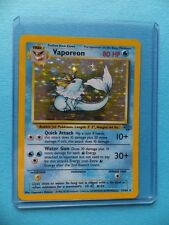 VAPOREON 12/64 Jungle Set Good Condition RARE HOLO SHINY P2 Pokemon Card