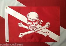 Diver Down pirate flag scuba dive equip novelty boat atv spearfish #520  12x18""