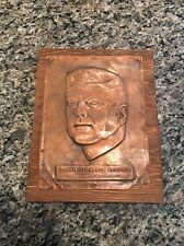 Original 1960s JOHN F KENNEDY Portrait print  35th US President Copper Engraving