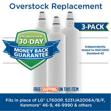LG 5231JA2006A LT600P 5231JA2006B Comparable Refrigerator Water Filter 3 Pack