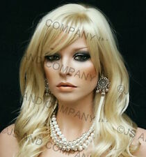 Beautiful Pale Blonde Wavy Long Wig with skin top JSPP 613