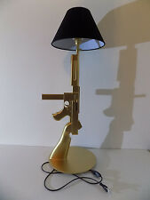 LAMPE DESIGN THOMPSON OR chevet bureau table gun guerre militaire deco no Starck
