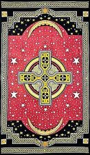 """Tapestry """"Celtic Cross"""" Red  69 x 108 - FREE PRIORITY MAIL SHIPPING"""
