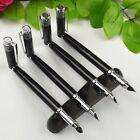 1pcs Portable Fountain Pen Extra Fine Nib Accounting Pen Students Black Pen --Y