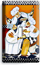 DRINKING RED WINE FRENCH CHEFS SINGLE LIGHT SWITCH WALL PLATE COVER KITCHEN ART
