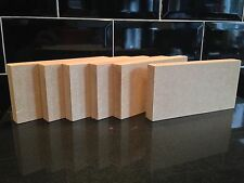 6 High Quality MEDITE MDF 18mm Freestanding Blank Wooden Plaque Blocks 6x3""