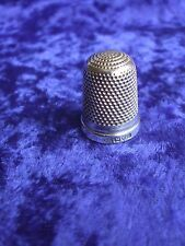ANTIQUE HALLMARKED SILVER THIMBLE CHARLES HORNER SIZE 7 CHESTER 1914