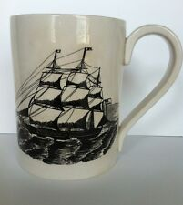 Portmeirion Pottery Stoke on Trent Large Mug Stein Sailing Ships Made in England