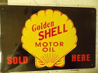 golden shell motor oil   tin metal sign MAN CAVE brand new