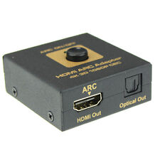 HDMI ARC Adattatore a & ottico Convertitore Audio 3D 1080P CEC 5.5mm Power Cavo