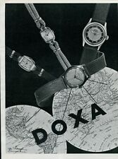 1940's Vintage Doxa Watch Company Original 1946 Swiss Ad Advert Suisse Print Ad