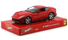 "Mattel Hot Wheels Ferrari F12 Berlinetta 1:24 scale 8"" diecast model Red M403"