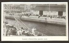 GUADELOUPE POINTE-A-PITRE ARRIVEE DU PAQUEBOT LA COLOMBIE IMAGE DE 1936