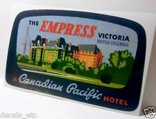 Empress Victoria Hotel Vintage Style Travel Decal/Vinyl Sticker,Luggage Label