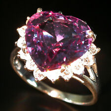 CAPTIVATE! COLOR CHANGE SPINEL & WHITE SAPPHIRE 925 SILVER RING