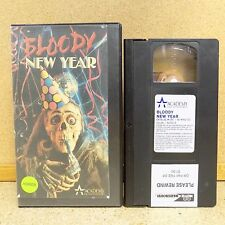 Bloody New Year VHS Video Tape Horror Film 1987 Scary Movie