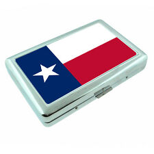 Texas State Flag D1 Silver Cigarette Case / Metal Wallet Card Money Holder
