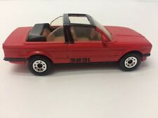 RARE VINTAGE MATCHBOX BMW 323i CABRIOLET 1985 WHITE LINE RED BLACKWALL HOT