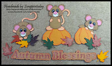Autumn Blessing Mice Fall Premade Paper piecing set :) by scrappintoday