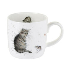 Royal Worcester Wrendale Cat and Mouse Single Mug Bone China 275ml Animal Box